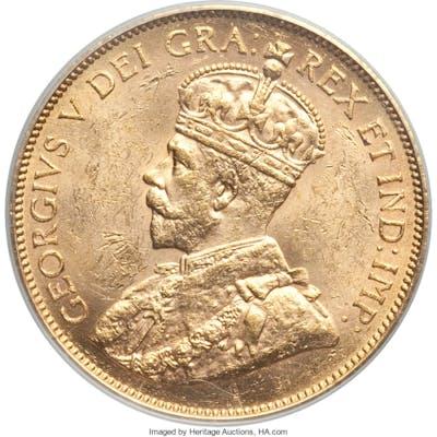 George V gold 10 Dollars 1913 MS61 PCGS,...