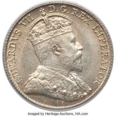 Newfoundland. Edward VII 5 Cents 1904-H MS64 PCGS,...