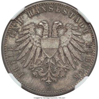 Lübeck. Free City 2 Mark 1901-A MS65 NGC,...