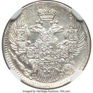 Nicholas I 5 Kopecks 1834 C??-H? MS66 NGC,...
