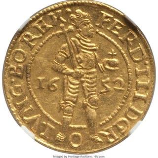 Kampen. City gold Ducat 1652 MS62 NGC,...