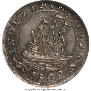Dutch Colony. Batavian Republic 1/16 Gulden 1802 MS64 NGC,...