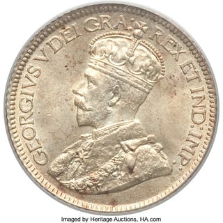 "George V ""Small Leaves"" 10 Cents 1913 MS66 PCGS,..."