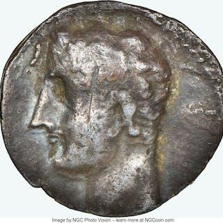ZEUGITANA. Carthage. Time of Hannibal (ca. 213-210 BC). AR half-shekel