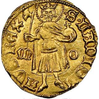 Sigismund (1387-1437) gold Goldgulden ND (1411-1419) MS63 NGC,...