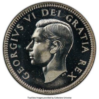 George VI Specimen 10 Cents 1948 SP66 PCGS,...