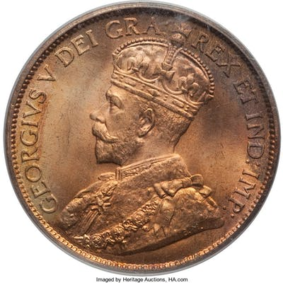 George V Cent 1912 MS66 Red PCGS,...