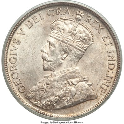 George V 50 Cents 1919 MS64 PCGS,...