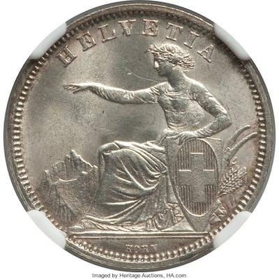 Confederation Franc 1861-B MS65 NGC,...