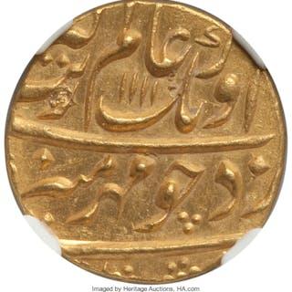 Mughal Empire. Aurangzeb Alamgir gold Mohur AH 1111 Year 43 (1699/1700)