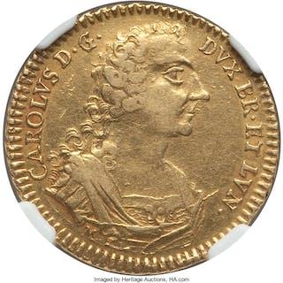 Brunswick-Wolfenbüttel. Karl I gold 5 Taler 1745 M-EK XF45 NGC,...