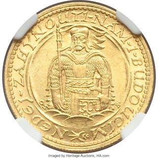 Republic gold Ducat 1925 MS64 NGC,...