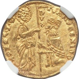 Venice. Tomaso Mocenigo gold Ducat ND (1414-1423) MS65 NGC,...