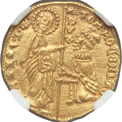 Venice. Tomaso Mocenigo gold Ducat ND (1414-1423) MS64 NGC,...