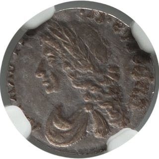 Charles II Mint Error - Obverse Brockage Penny ND (1670-1684) AU58 NGC,...