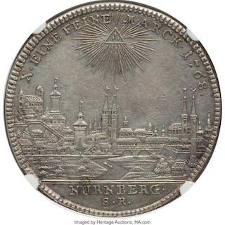 "Nürnberg. Free City ""City View"" Taler 1768-SR AU55 NGC,..."