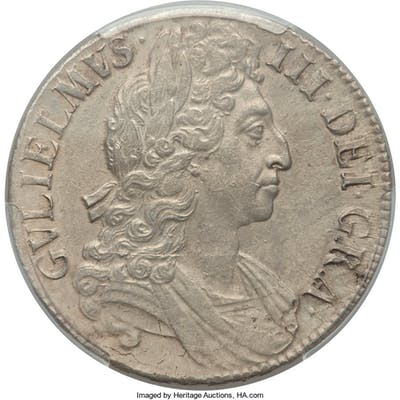 William III Crown 1696 AU55 PCGS,...