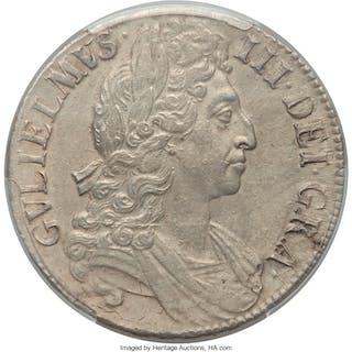 William III Crown 1696 AU55 PCGS,...