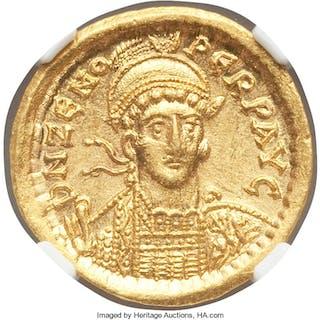 Zeno, Eastern Roman Empire (AD 474-491). AV solidus (20mm, 4.50 gm