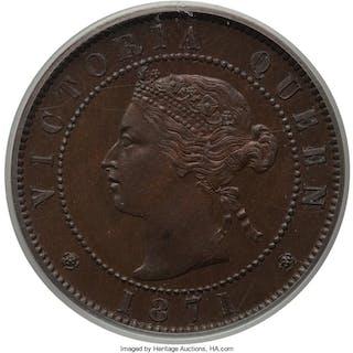 Prince Edward Island. Victoria Specimen Cent 1871 SP64 Brown PCGS, ...