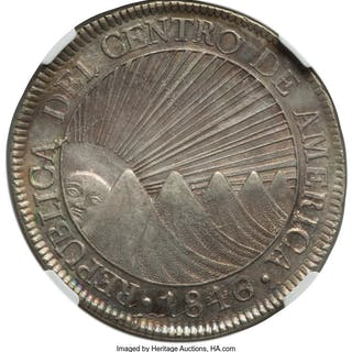 Central American Republic 8 Reales 1846/2 NG-AE AU58 NGC,...