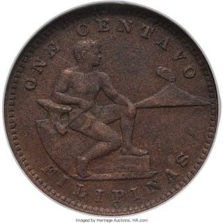 "USA Administration ""Large S"" Centavo 1918-S AU55 Brown NGC,..."