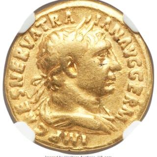 Trajan (AD 98-117). AV aureus (18mm, 7.29 gm, 7h). NGC Fine 5/5 -