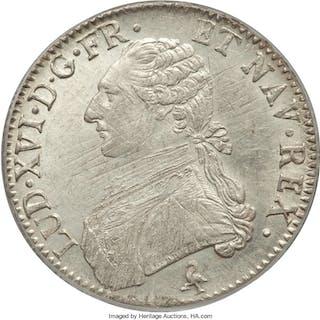 Louis XVI Ecu 1784-A MS61 PCGS,...