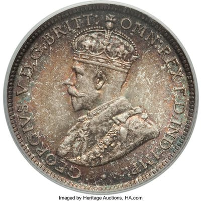 British Colony. George V 6 Pence 1913 MS67 PCGS,...
