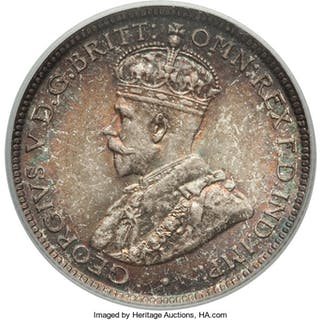 British Colony. George V 6 Pence 1913 MS67 PCGS,...