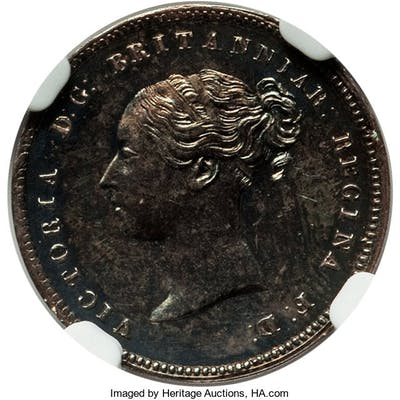 Victoria Proof 4 Pence (Groat) 1853 PR63 NGC,...