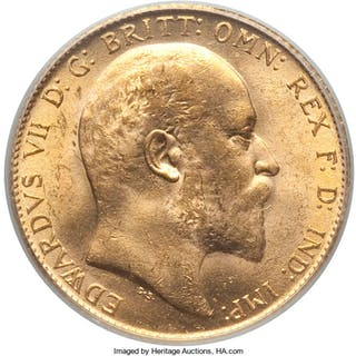 Edward VII gold Sovereign 1909 MS64 PCGS,...
