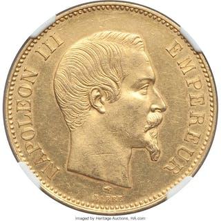 Napoleon III gold 100 Francs 1857-A MS61 NGC,...