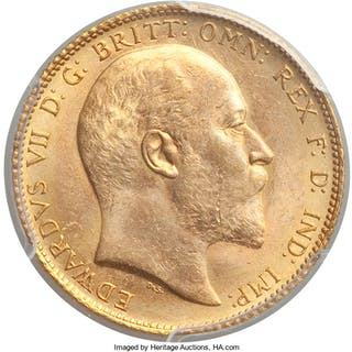 Edward VII gold Sovereign 1902 MS64 PCGS,...