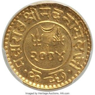 Kutch. Madanasinghji gold Kori VS 2004 (1947) UNC Details (Filed Rims) PCGS,...
