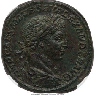 Severus Alexander (AD 222-235). AE sestertius (30mm, 20.76 gm, 12h).