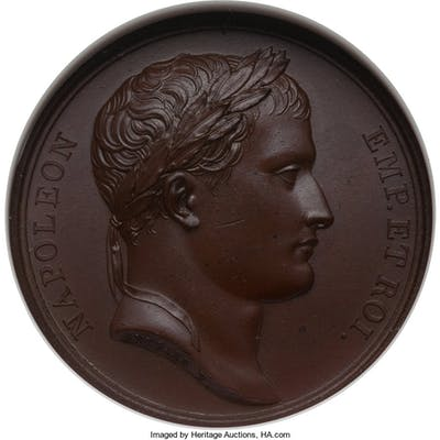 "Napoleon bronze ""Return from Venice"" Medal 1805-Dated MS64 Brown NGC,..."