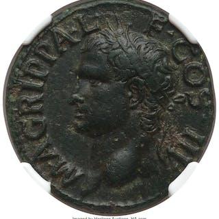Marcus Agrippa, lieutenant of Augustus (died 12 BC). AE as (28mm