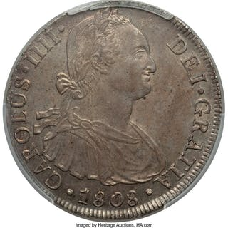 Charles IV 8 Reales 1808 LM-JP MS62 PCGS,...