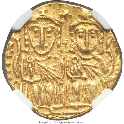Constantine VI (AD 780-797), with Leo IV the Khazar, Leo III, and