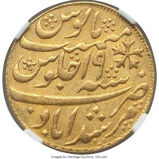British India. Bengal Presidency gold 1/2 Mohur AH 1202 Year 19 (1793-1818)