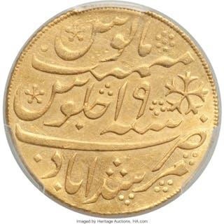 British India. Bengal Presidency gold Mohur AH 1202 Year 19 (1790)