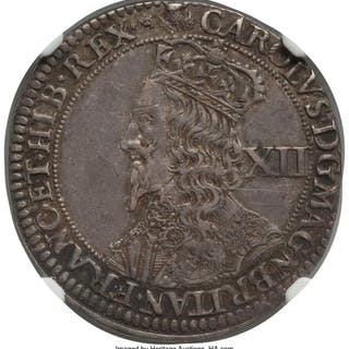 Charles I 12 Shillings ND (1637-1642) AU50 NGC,...