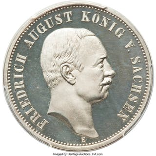 Saxony. Friedrich August III Proof 3 Mark 1909-E PR66 Deep Cameo PCGS,...