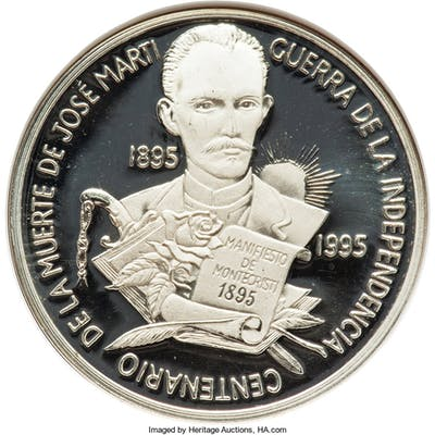 "Republic silver Proof Piefort ""100th Anniversary of the Death of Jose"