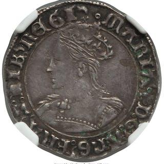 Mary (1553-1558) Groat ND (1553-1554) XF40 NGC,...