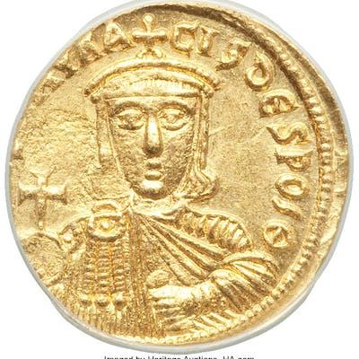 Nicephorus I and Stauracius (AD 803-811). AV solidus (18mm, 6h). ANACS