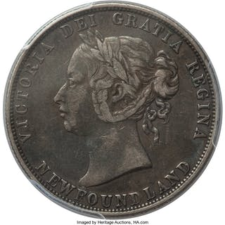 Newfoundland. Victoria 50 Cents 1888 XF40 PCGS,...