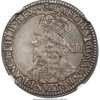 Charles I 12 Shillings ND (1637-1642) XF45 NGC,...