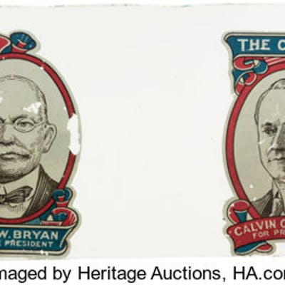 Davis & Bryan and Coolidge & Dawes: Rare Pair of Jugate Decals. ...